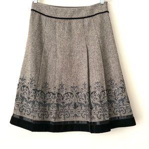 Ann Taylor LOFT Wool Blend Circle Skirt